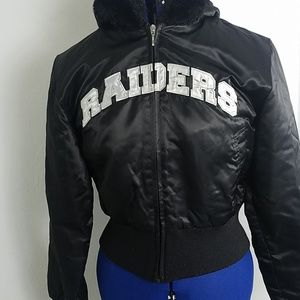 low priced f5902 ccfe0 NFL RAIDERS Jacket w/ Faux fur M